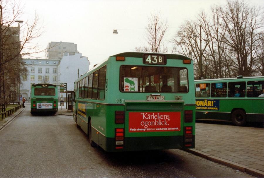 Malmö Lokaltrafik 057/FYN 475 på Gustav Adolfs Torv i Malmö, Sverige