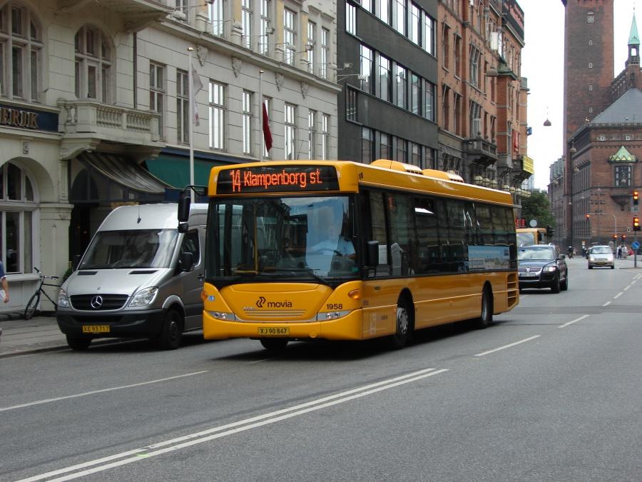 Arriva 1958/XJ90847 i Vester Voldgade i København den 3. juli 2009