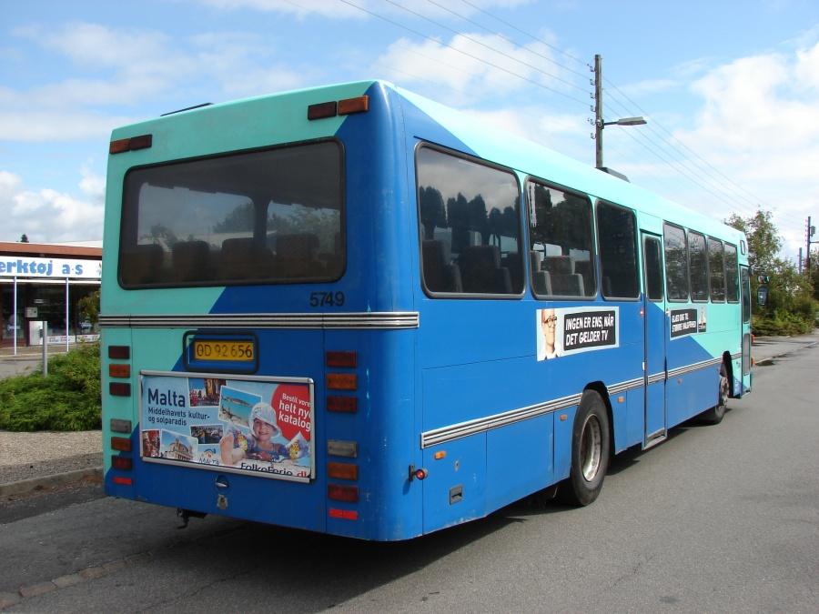 Arriva 5749/OD92656 i Nykøbing Falster den 6. september 2009