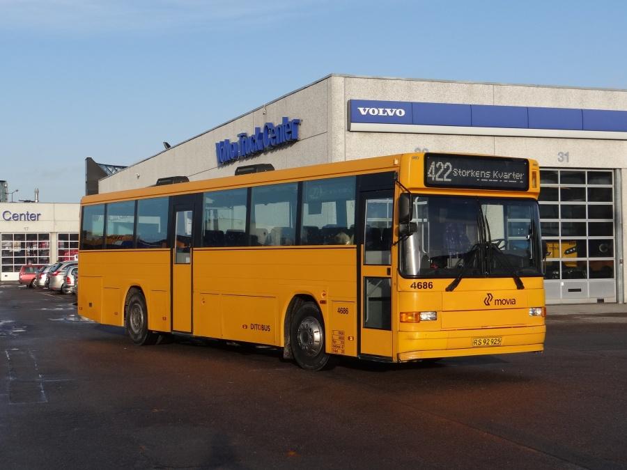 Ex. Ditobus 4686 ved Volvo Truck Center i Taastrup den 23. december 2013