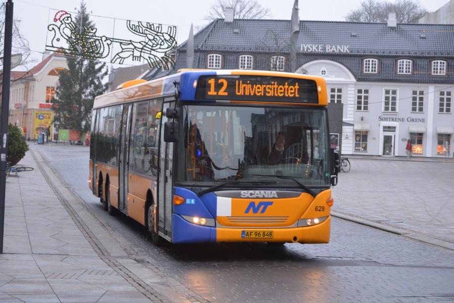 City-Trafik 629/AF96848 på Østerågade i Aalborg den 26. december 2013