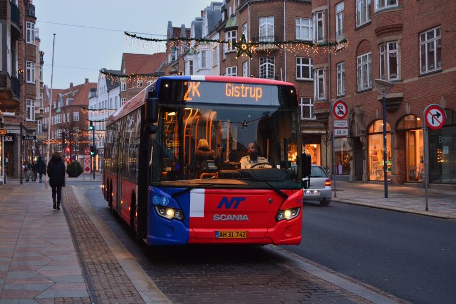 Arriva 3135/AH31742 på Boulevarden i Aalborg den 26. december 2013