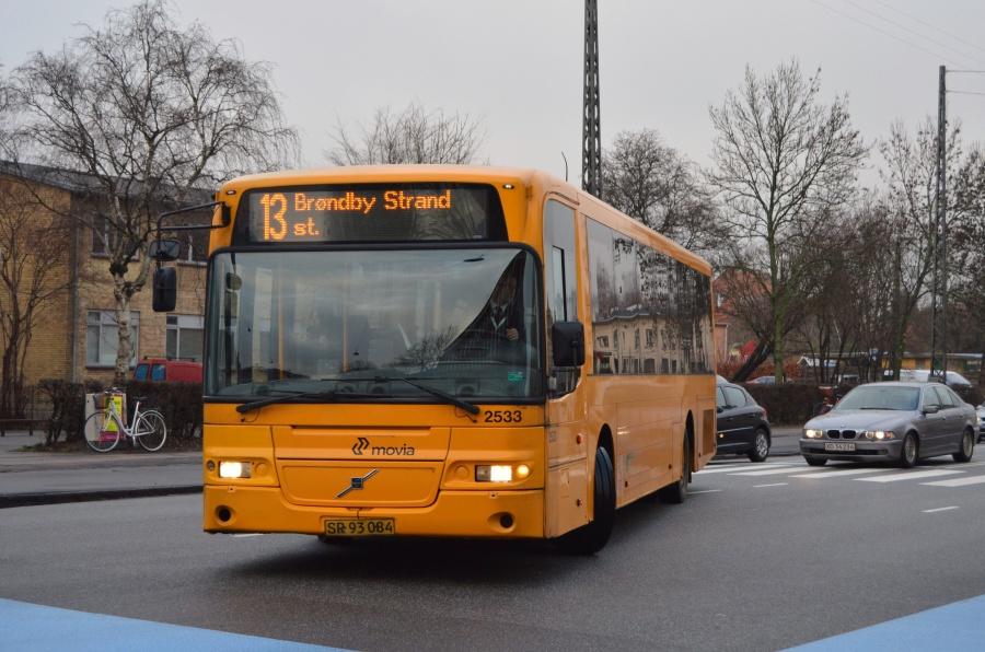 City-Trafik 2533/SR93084 på Jyllingevej i København den 14. januar 2014