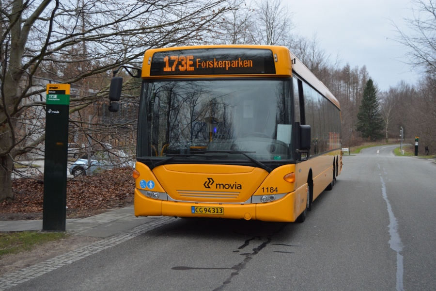 Arriva 1184/CG94313 i Forskerparken i Hørsholm den 15. januar 2014