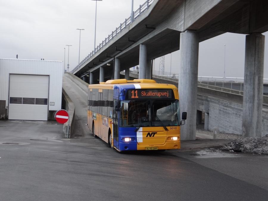 Arriva 3010/XJ95169 på Aalborg rtb. den 12. februar 2014
