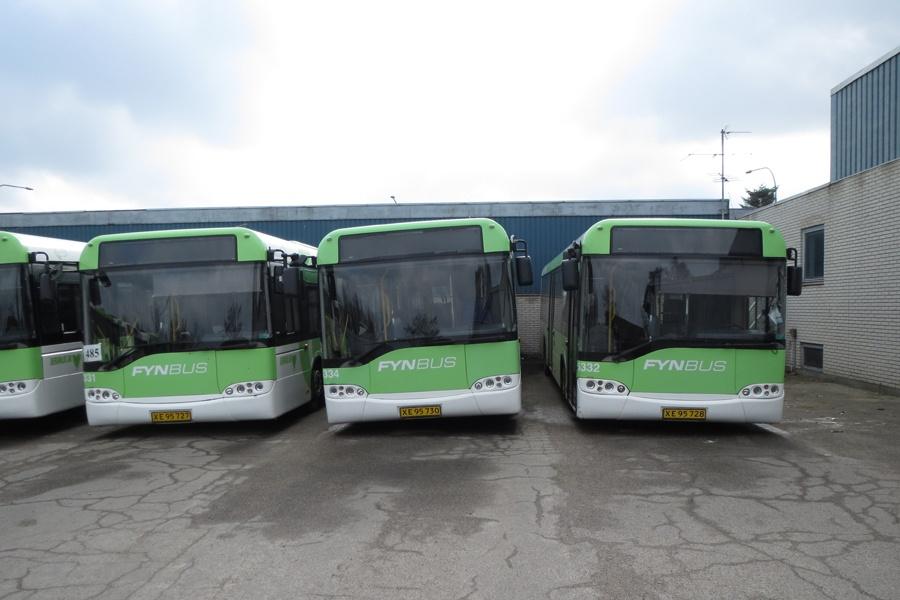 Bergholdt 5331/XE95727, 5334/XE95730 og 5332/XE95728 i Kerteminde den 23. marts 2014