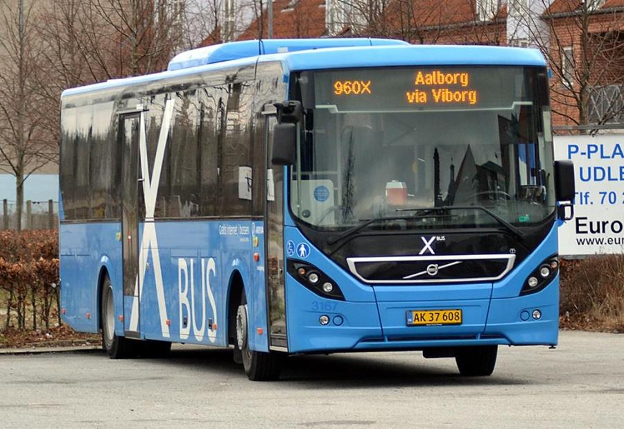 Arriva 3167/AK37608 i Silkeborg den 23. januar 2014
