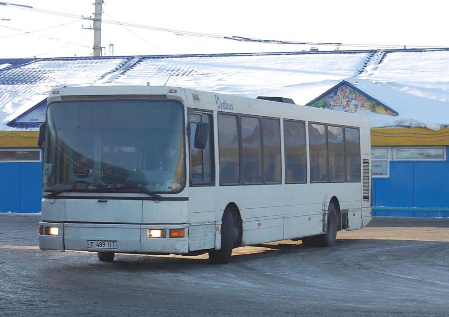 Petropavlovsk trolleybus garage T489BT i Petropavlovsk i Kazakhstan den 9. januar 2012