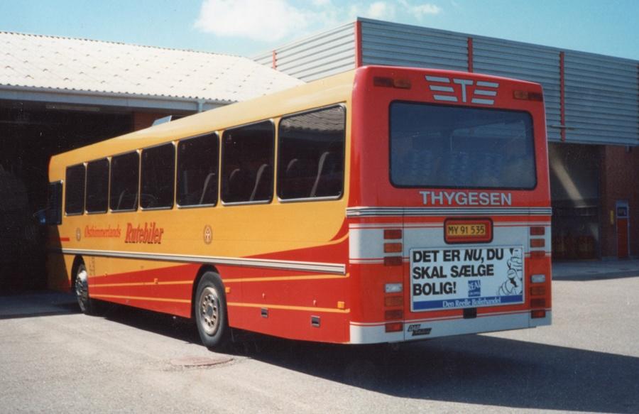Østhimmerlands Rutebiler 100/MY91535 i Als i 1994