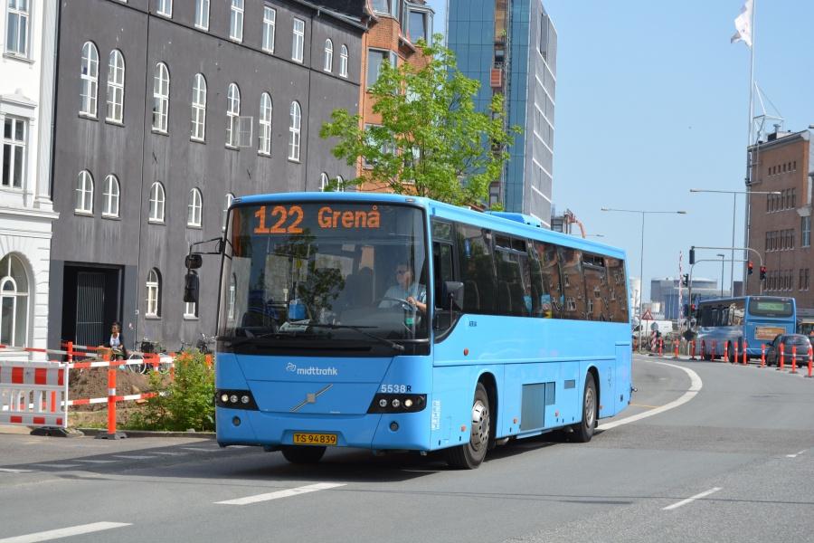 Arriva 5538/TS94839 på Nørrebrogade i Århus den 22. maj 2014