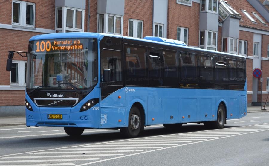 Arriva 3160/AG70081 på Nørregade i Århus den 22. maj 2014