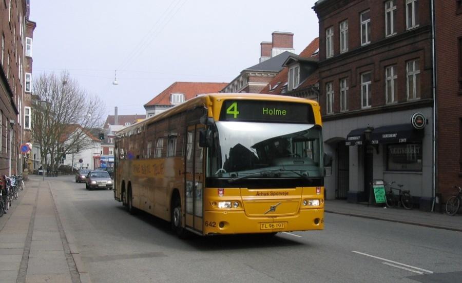 Århus Sporveje 642/TL96197 i Nørre Allé i Århus den 26. marts 2005