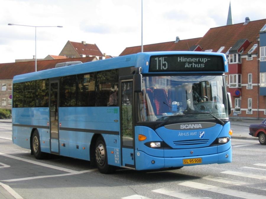 De Grønne Busser 10/SL95908 i Nørreport i Århus den 6. september 2004