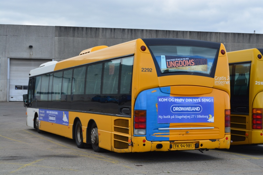 Arriva 2292/TK94981 i garagen i Silkeborg den 19. juni 2014