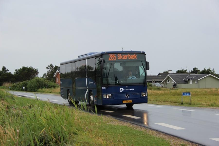 Tide Bus 8553/TV96407 på Lakolk i Lakolk på Rømø den 13. juli 2014