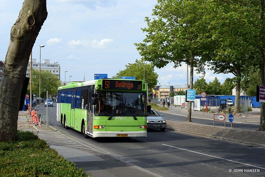 Tide Bus 8041/SM90326 på Thomas B. Thrigesgade i Odense den 27. juni 2014