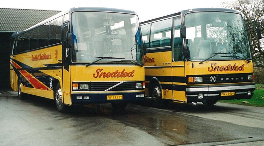 Snedsted Turistbusser NV93222 og MN93901 i Snedsted