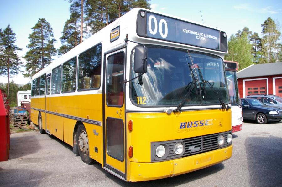 Bussen Trafikkselskap 112 i Evje i Norge den 26. maj 2007