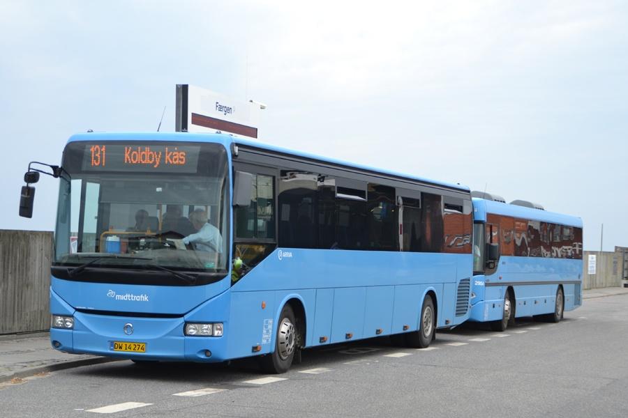 Arriva 2910/DW14274 og 2954/XE90177 i Sælvig på Samsø den 9. august 2014
