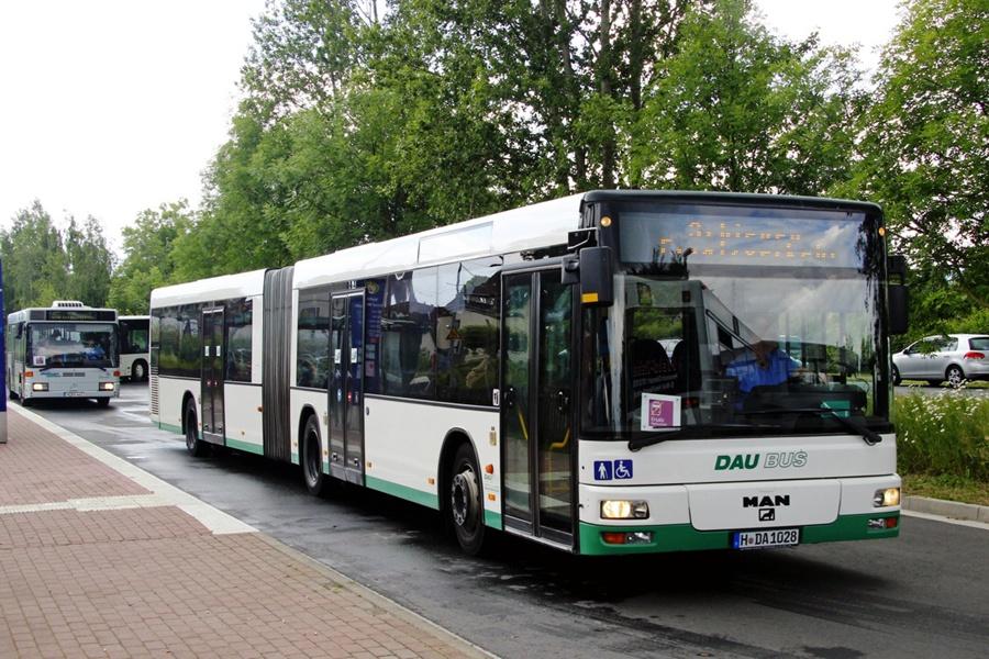 DAU Bus H-DA1028 i Wreetzen i Tyskland den 14. juni 2014