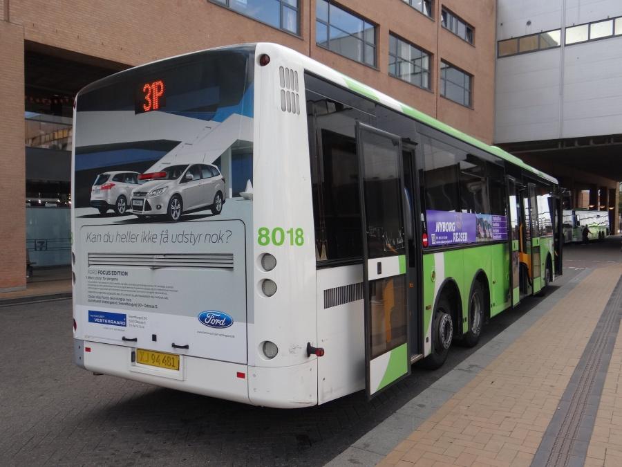 Tide Bus 8018/XJ94481 ved Odense Banegård Center den 3. september 2014