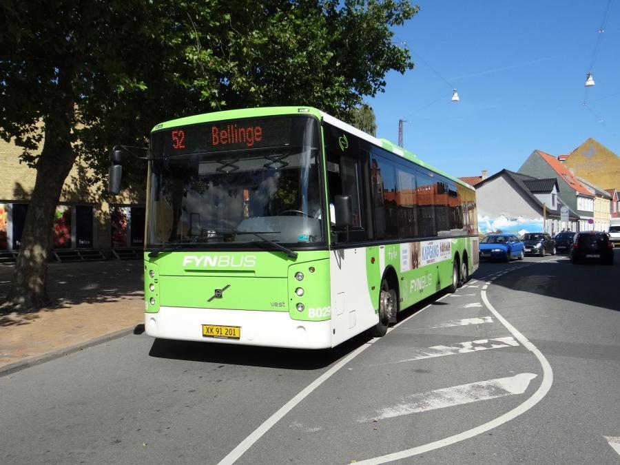Tide Bus 8029/XK91201 i Vindegade i Odense den 3. september 2014