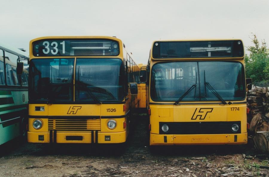 Arriva 1526 og 1774 ved Vejle Busophug den 18. september 2000