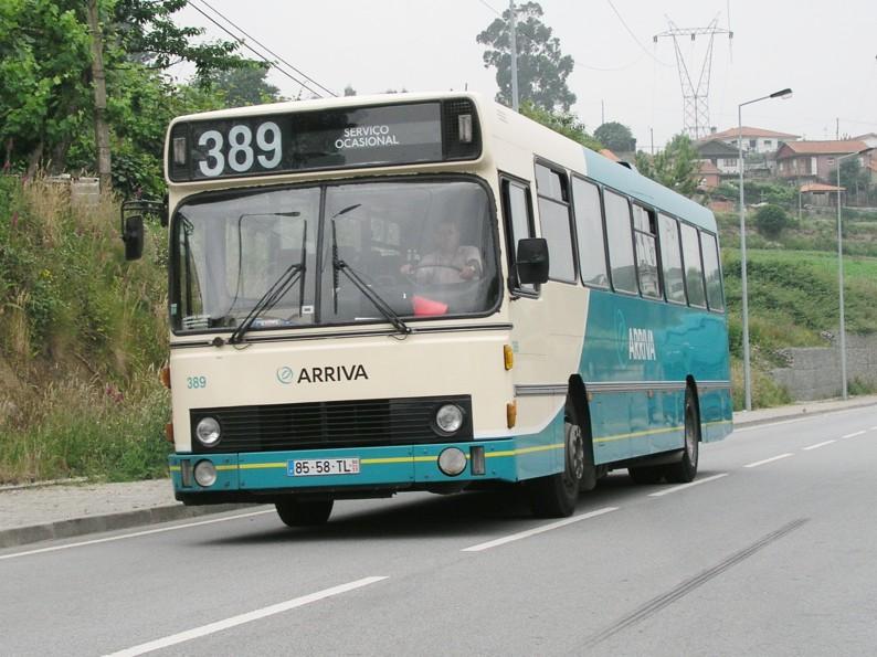 Arriva 389/85-58-TL i Guimarães, Portugal i 2005