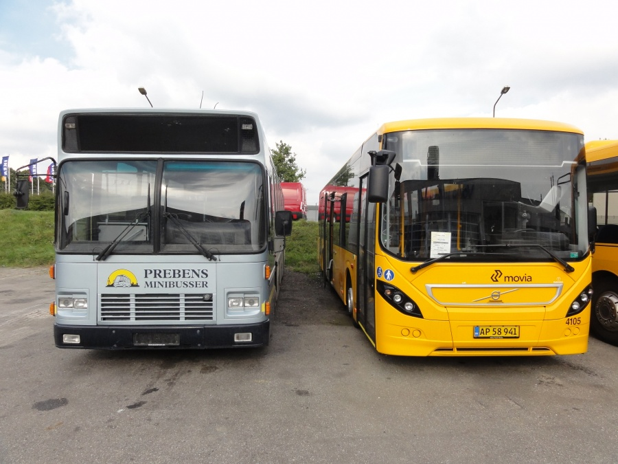 Ex. Prebens Minibusser 52 & De Blaa Omnibusser 4105/AP58941 ved Volvo Truckcenter i Taastrup den 6. oktober 2014