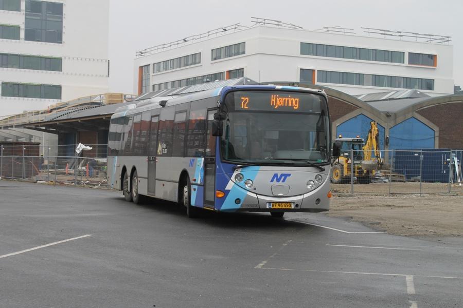 Arriva 3013/AF96450 i Aalborg den 26. februar 2014