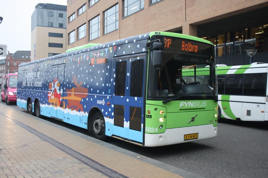 Tide Bus 8024/XJ94607 i Odense den 2. december 2014
