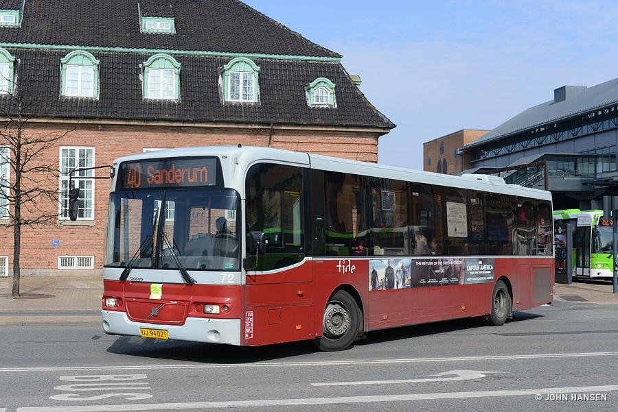 Tide Bus 72/UJ94025 på Østre Stationsvej i Odense den 22. marts 2014