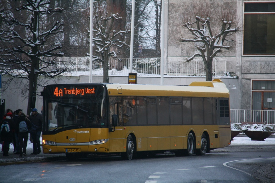 Århus Sporveje 714/AM39252 på Park Allé i Århus den 24. januar 2015