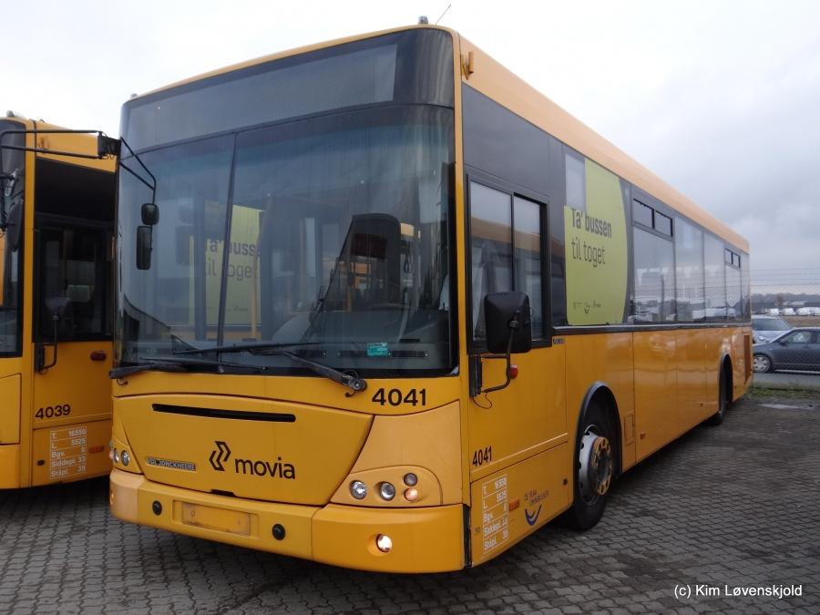 Ex. De Blaa Omnibusser 4041 ved Volvo Truck Center i Hillerød den 21. januar 2015