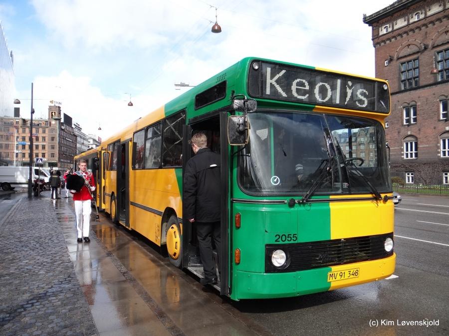 Keolis 2055/MV91348 på H.C. Andersens Boulevard i København den 1. april 2015