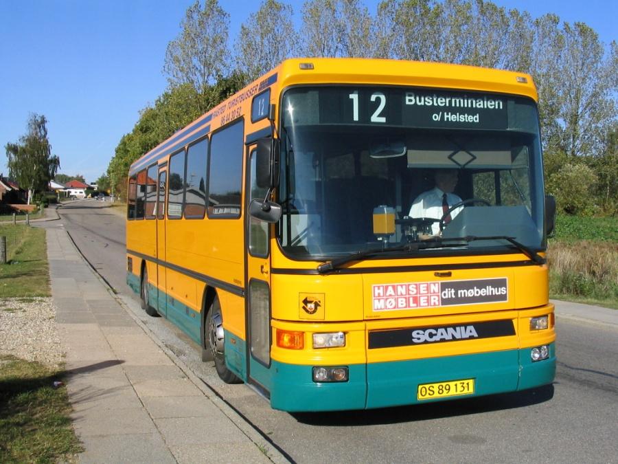 Råsted Turistbusser OS89131 på Rønnebærvej i Helsted den 19. oktober 2005