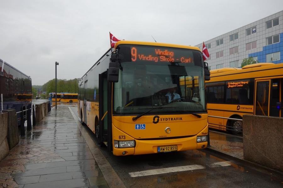 Bent Thykjær 673/AW92855 på Vejle Trafikcenter den 5. maj 2015