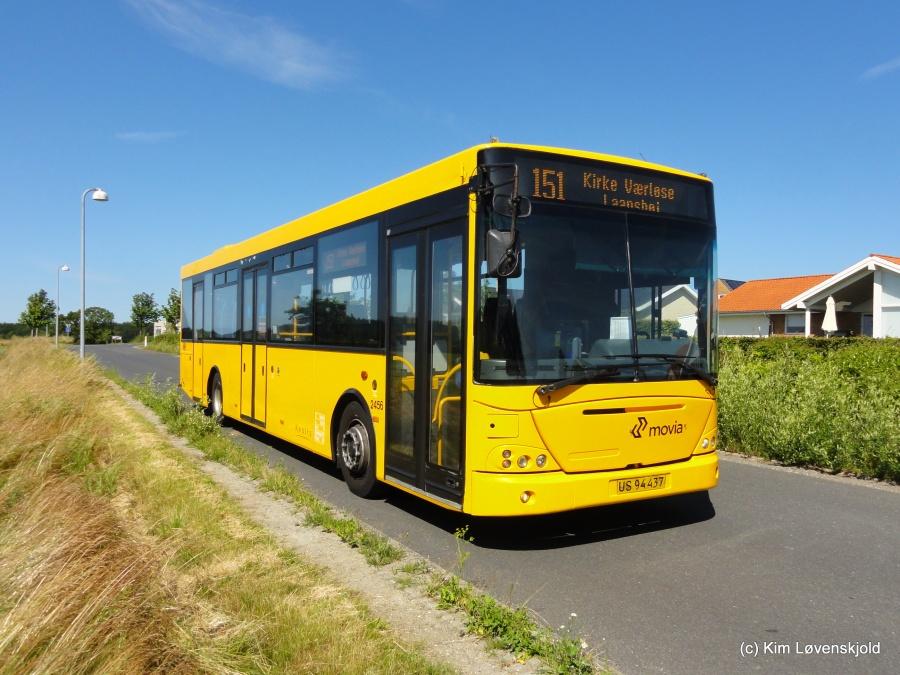 Keolis 2456/US94437 på Ryethøjvej i Værløse den 16. juli 2015