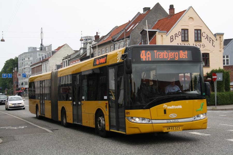 Århus Sporveje 491/XM93323 på Frederiks Allé i Århus den 27. juni 2015