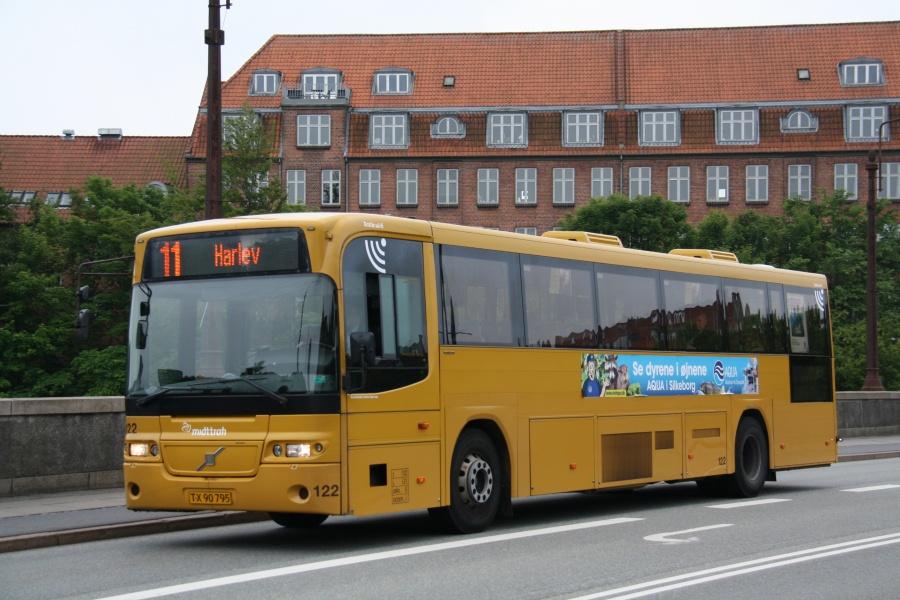 Århus Sporveje 122/TX90795 på Frederiks Bro i Århus den 27. juni 2015