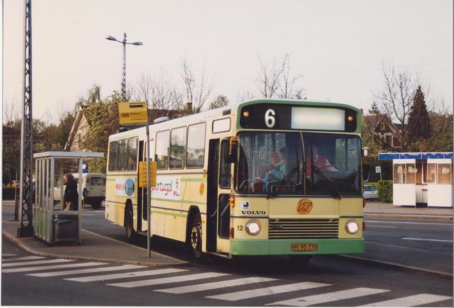 DSV Bus 12/HY95775 ved Hellerup St. i maj 1992