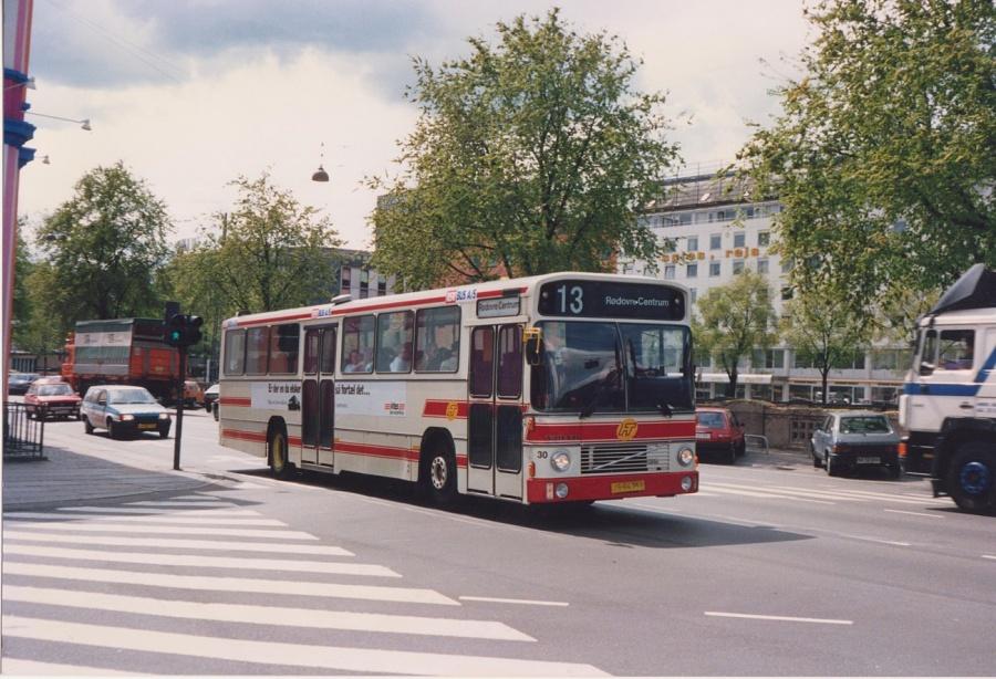 DSV Bus 30/JS94758 i Hammerichsgade i København i juni 1990