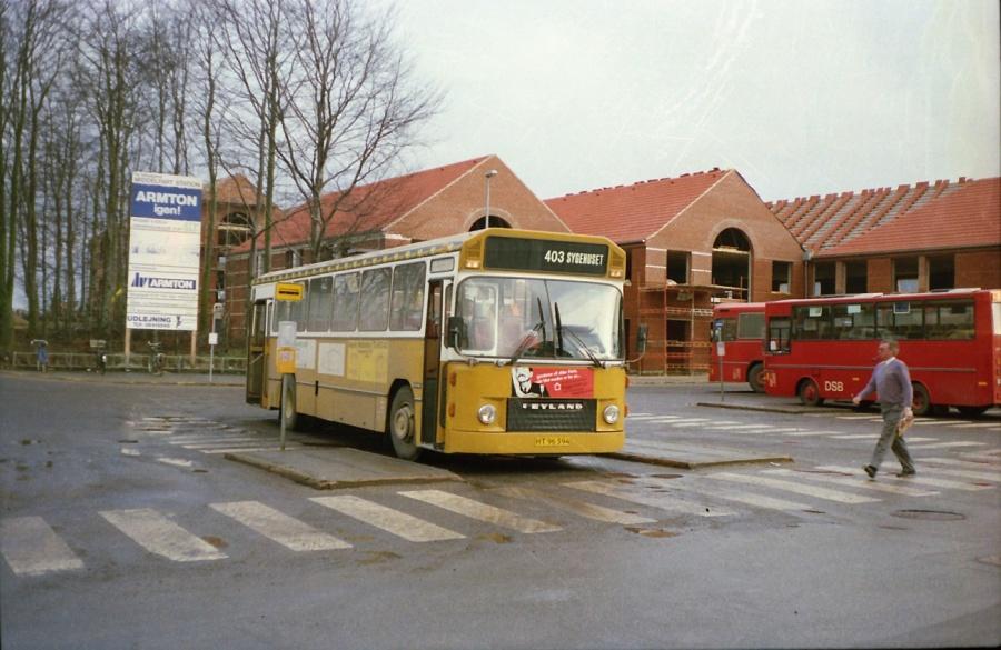 Middelfart Bybusser 5/HT96394 i Middelfart i februar 1988