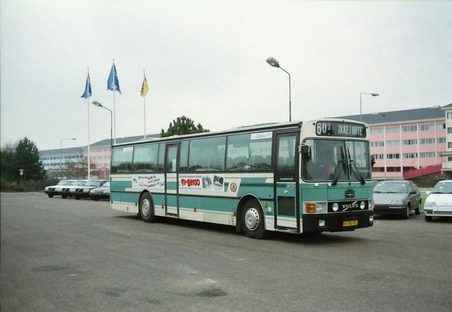 Linjebus 8501/HV90101 ved Volvo i Taastrup i februar 1992
