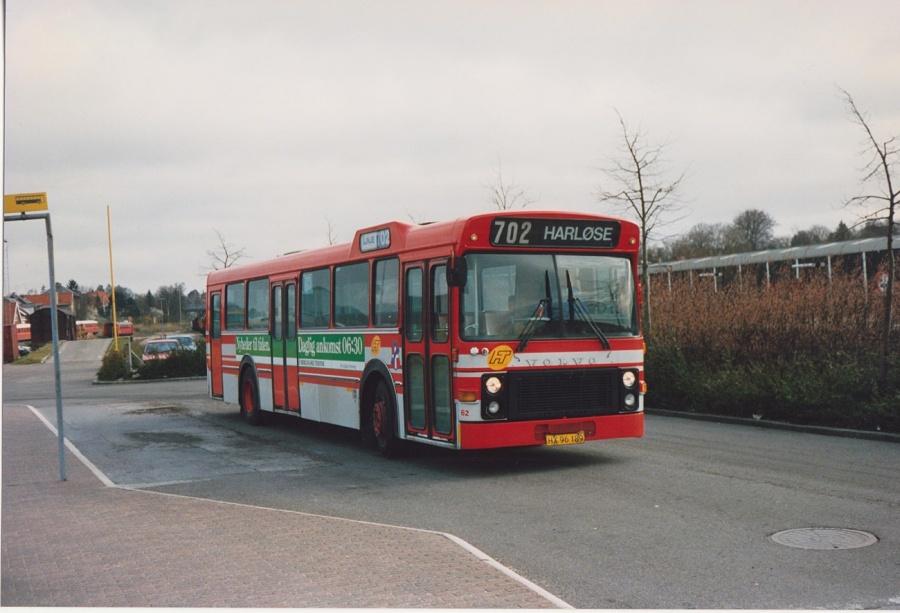 Jørgen Andersen 62/HX96189 ved Hillerød Station i februar 1992