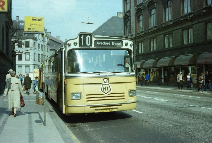 HT 499/AX91666 i Stormgade i København i april 1980