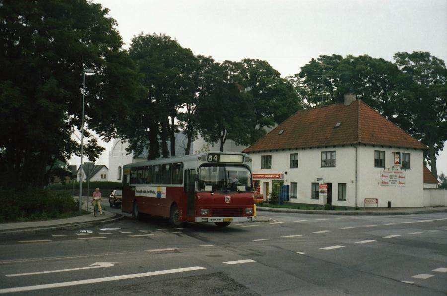 Odense Bytrafik 1/CY97054 ved Sanderumvej/Holkebjergvej i Odense i juli 1988