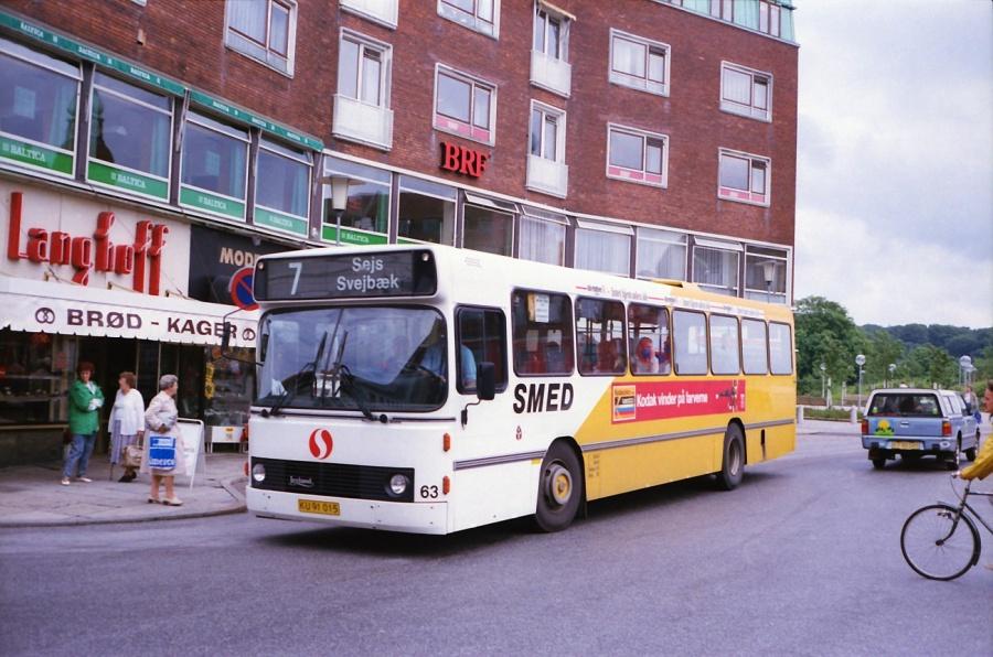 Smed 63/KU91015 i Silkeborg i juli 1988
