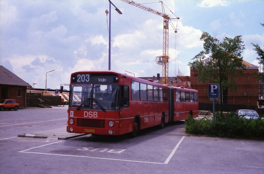 DSB 863/HX93274 i Kolding i juli 1988