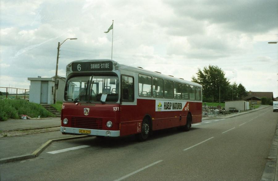 Odense Bytrafik 131/JC91215 i Stige i juli 1989